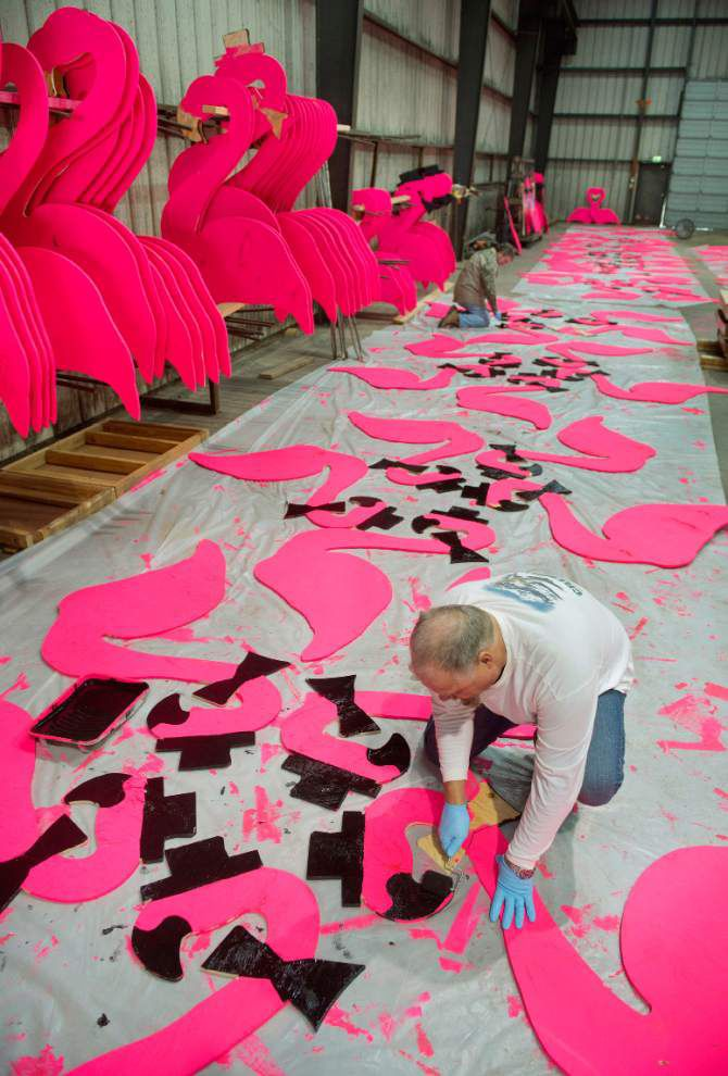 Creator of iconic mascot of Baton Rouge's Spanish Town, the plastic pink flamingo, Don Featherstone dies at age 79 _lowres