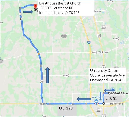 Trooper George Baker procession route