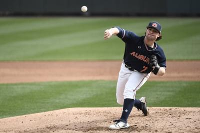 Auburn right-hander Tanner Burns