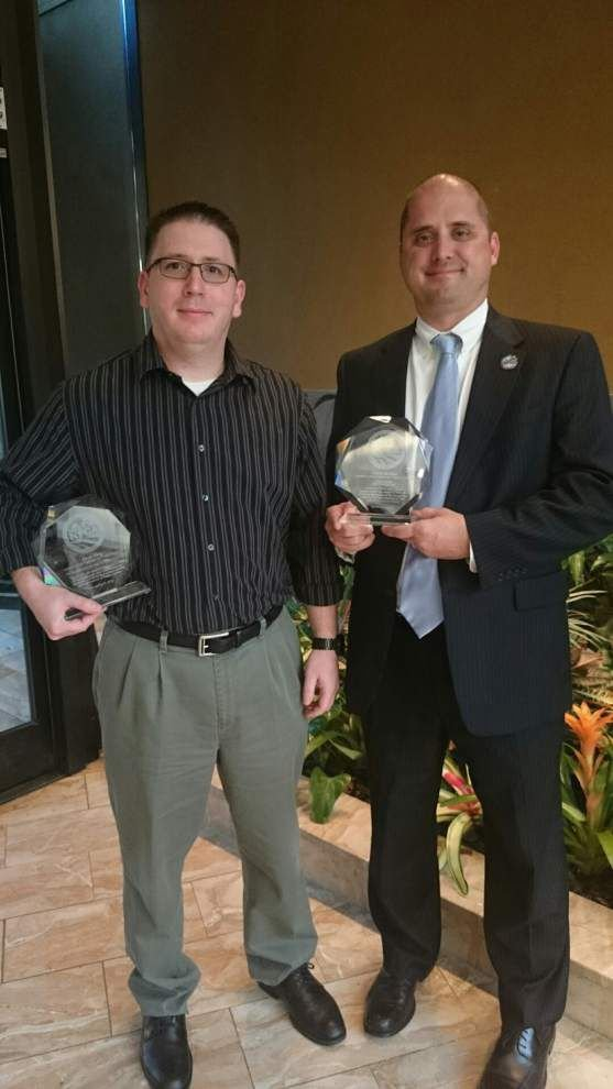 2 State Police workers receive safety awards _lowres