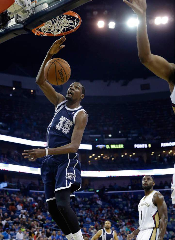 Video: Durant says OKC will be fine, despite upset loss to Pelicans _lowres