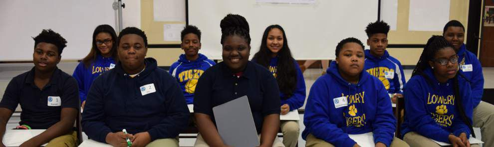 Lowery Middle students qualify for state bee _lowres