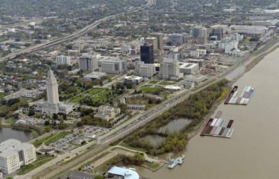 Baton Rouge skyline economy file stock photo