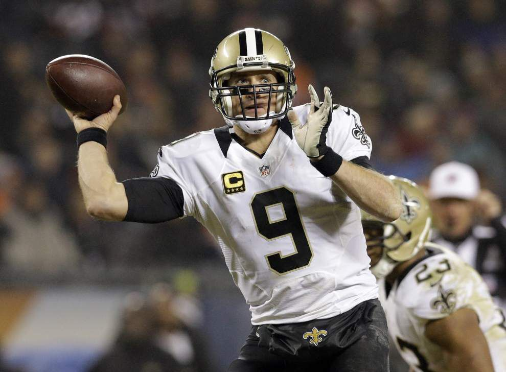 Notebook: Drew Brees' 4,000-yard passing streak climbs to nine _lowres