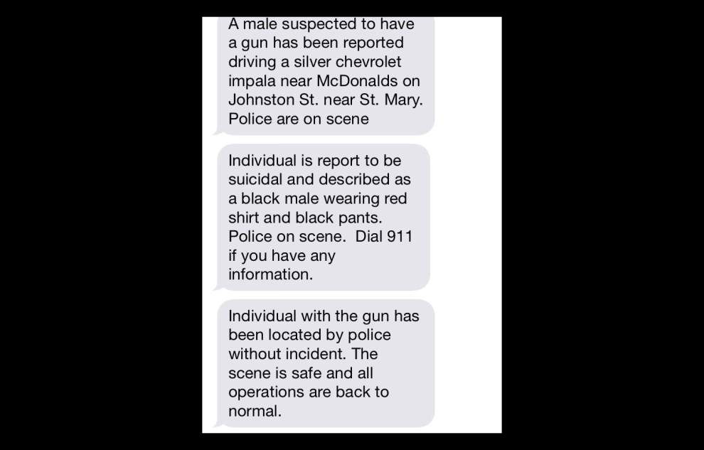University sends out warning text Friday morning, Lafayette police respond _lowres