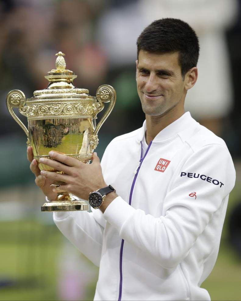 Novak Djokovic beats Roger Federer for third Wimbledon championship and ninth Grand Slam title _lowres