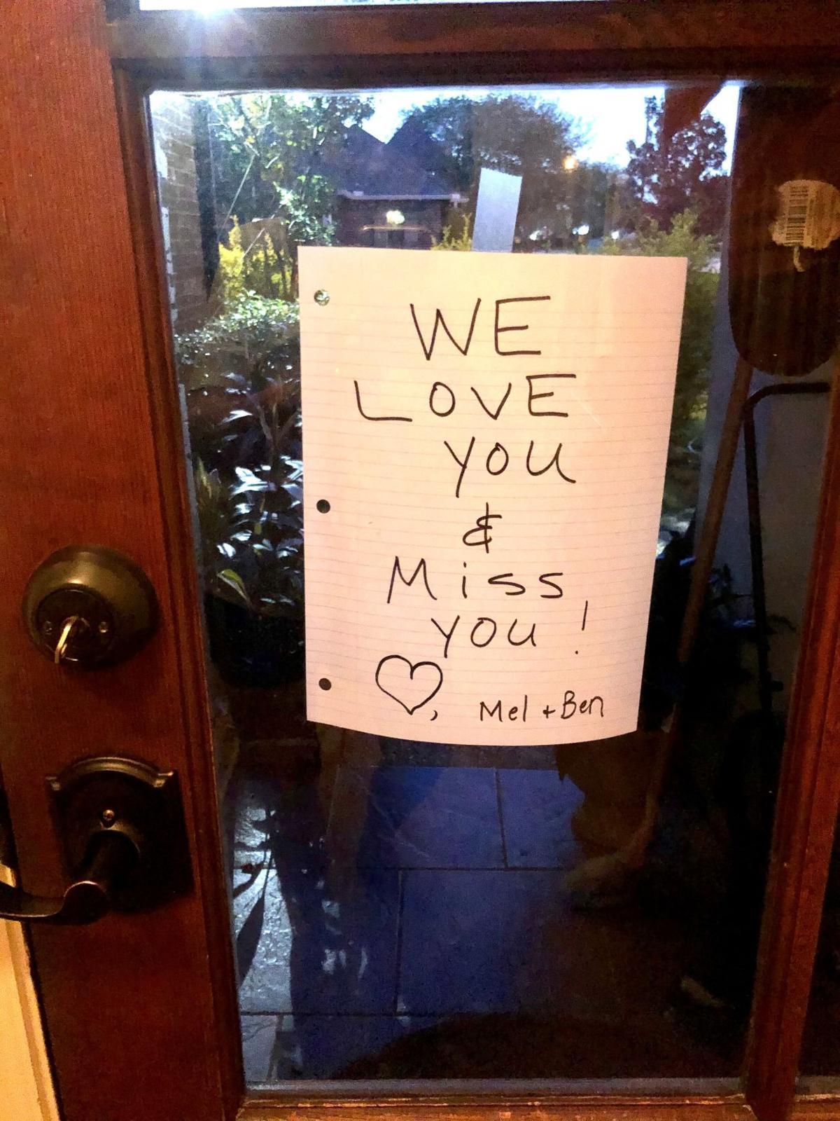 front door note