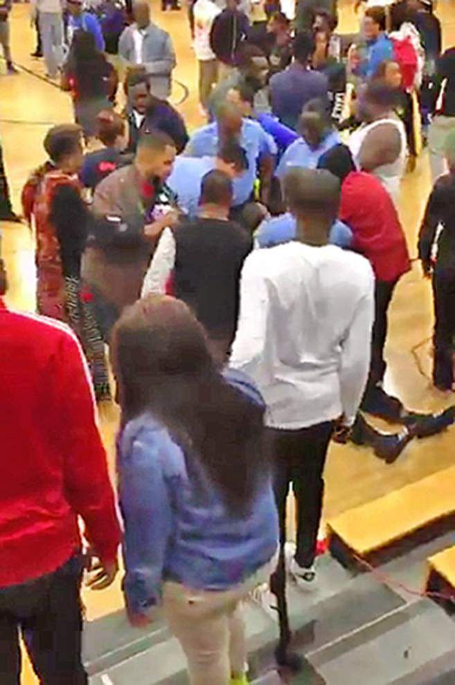 Landry-Walker, McDonogh 35 basketball teams suspended after game ends in violent brawl Tuesday _lowres