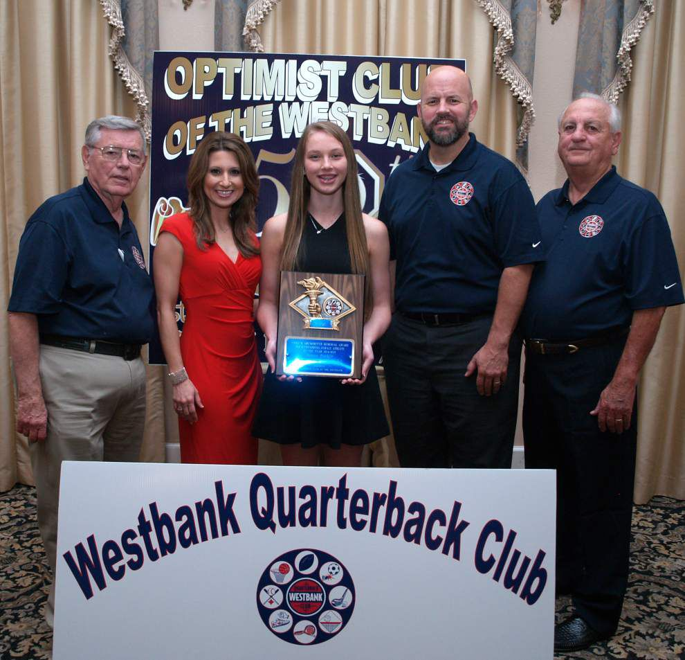 Westbank Quarterback Club honors area athletes _lowres
