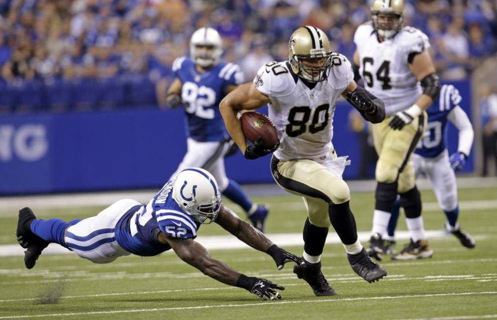 Report: Saints tight end Jimmy Graham is expected to play against Detroit _lowres
