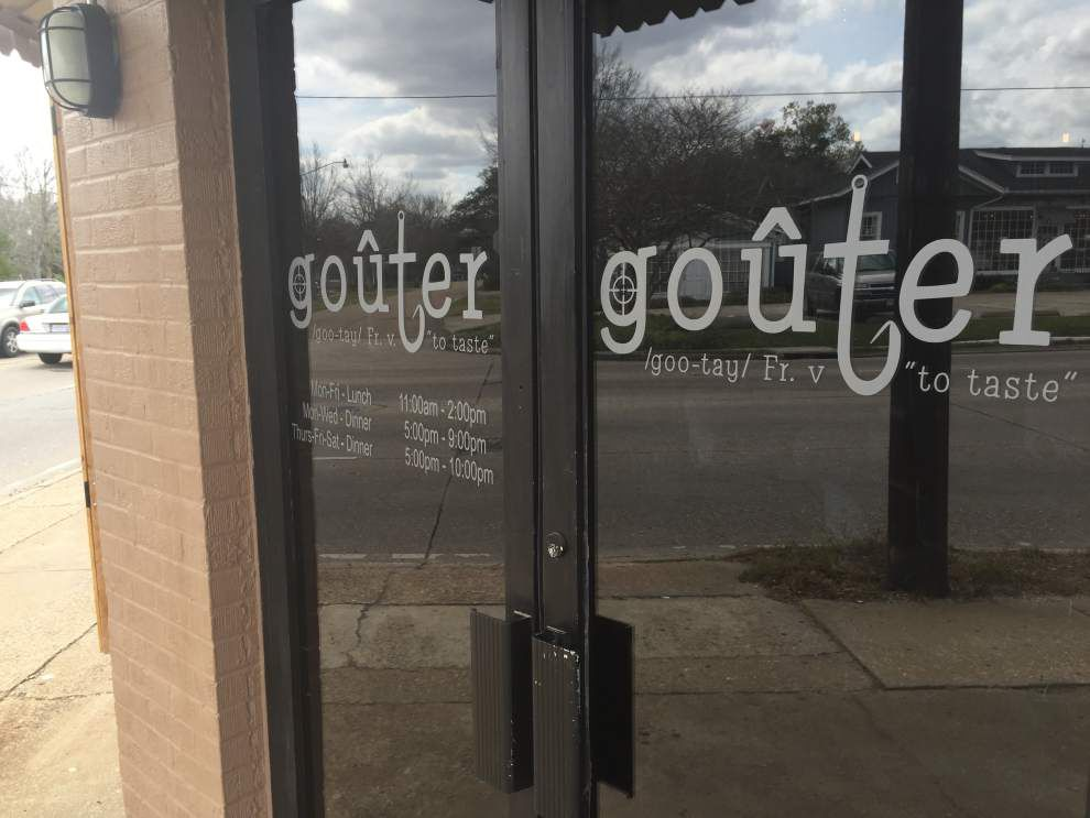 Now open in Baton Rouge: Goûter in Mid City offering lunch service, dinner service coming after Lent _lowres