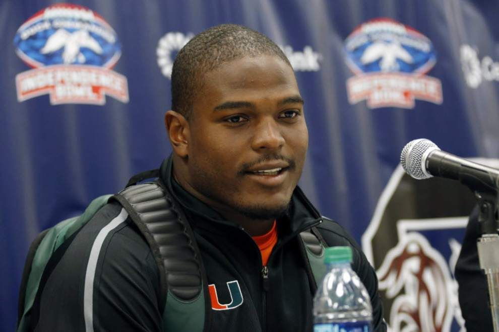Saints to have dinner with University of Miami linebacker Denzel Perryman and wide receiver Phillip Dorsett _lowres