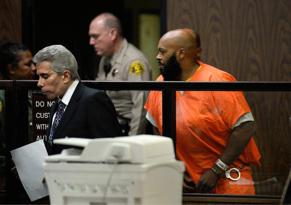 Former rap mogul Suge Knight pleads not guilty to murder _lowres