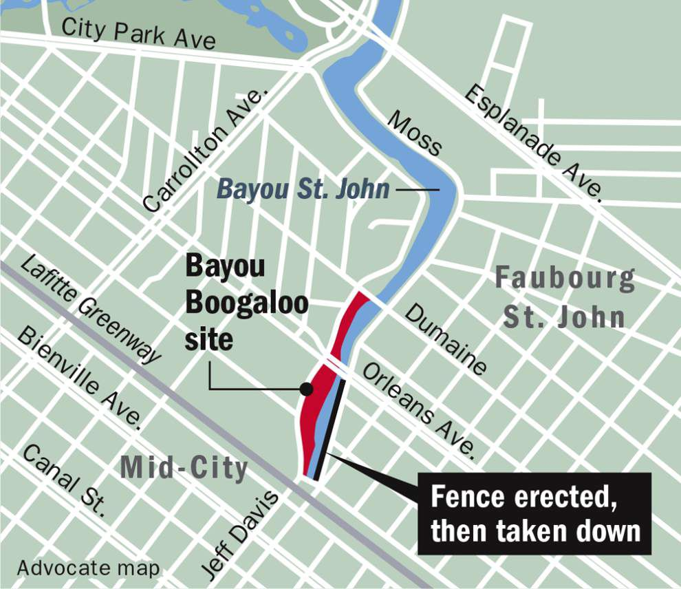 Outfenced: Boogaloo barrier around Bayou St. John pulled down following social media frenzy _lowres