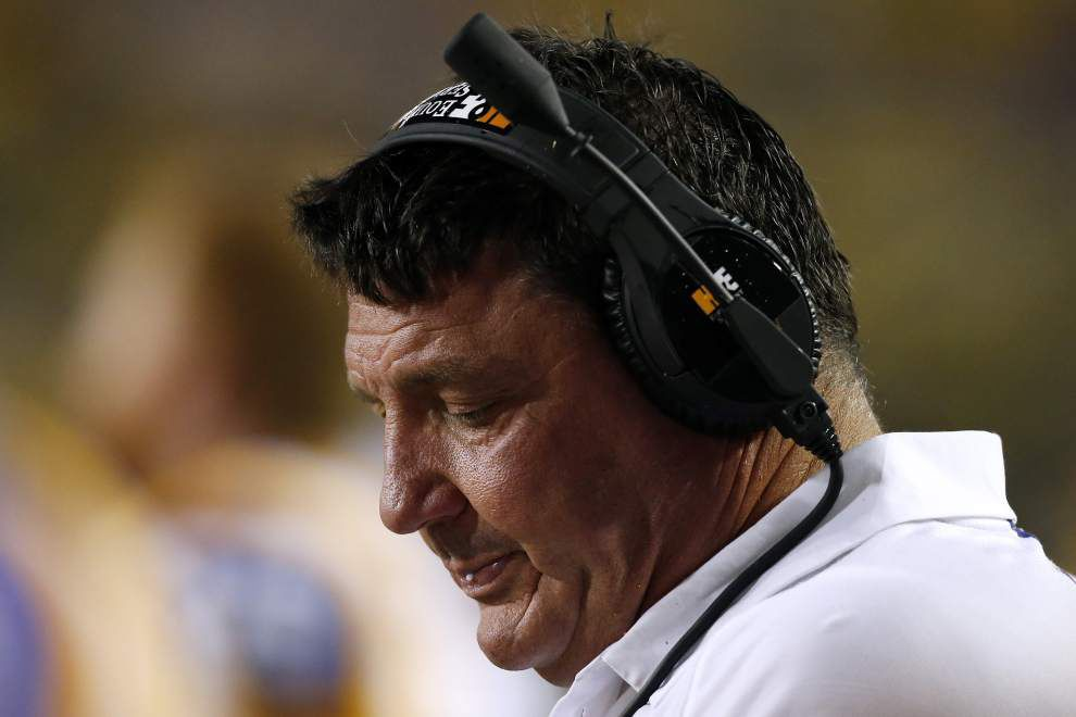Report: LSU defensive line coach Ed Orgeron 'very interested' in Syracuse head coaching job _lowres
