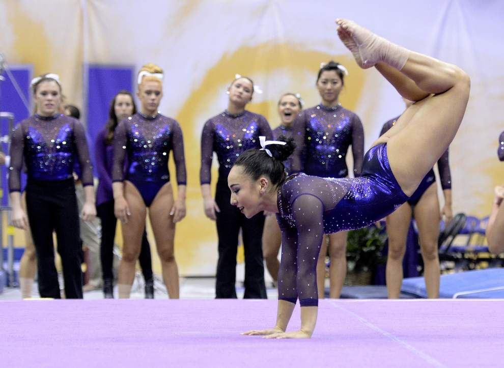 LSU gymnast Myia Hambrick, with a new persona and presentation on the floor, is thriving as an all-arounder _lowres