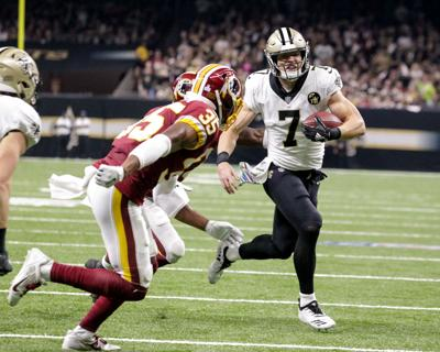 Saints still working out some kinks in option package withTaysom Hill