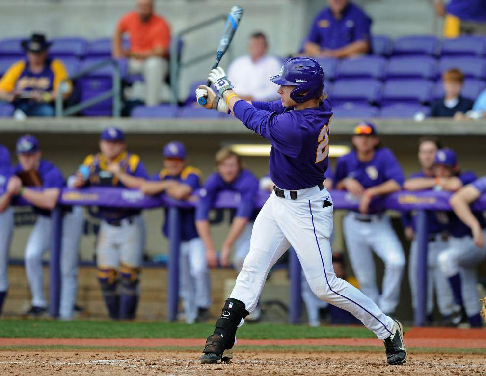 LSU's Jake Fraley could return as soon as this weekend but will miss Tuesday's game against UL-Lafayette _lowres