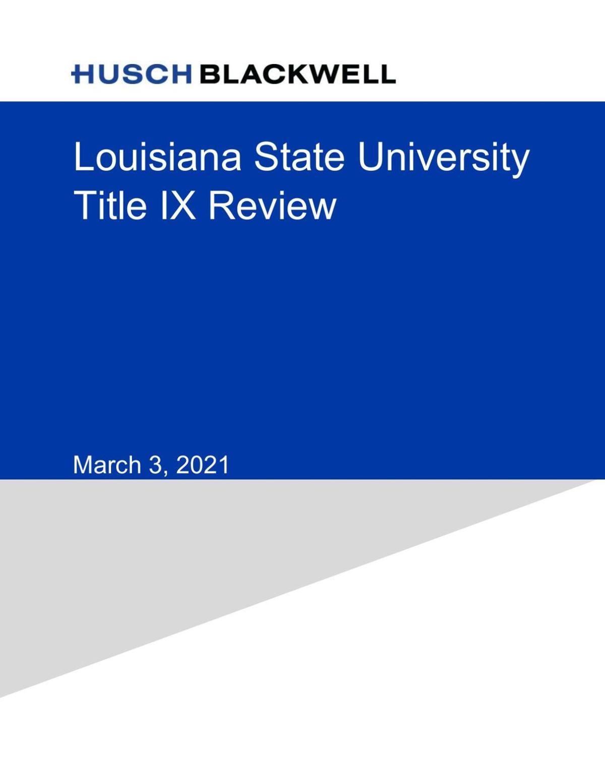 Read LSU's Husch Blackwell Report