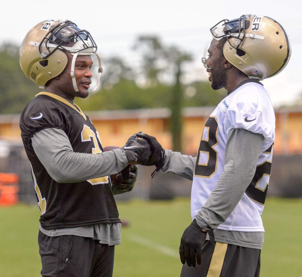 C.J. Spiller looks like 'real good fit,' shows flash, dash at Saints OTAs _lowres