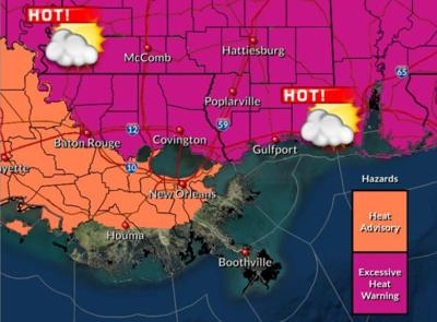 Excessive heat warning for metro Baton Rouge, Aug. 13, 2019