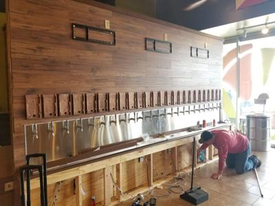 Pizza Artista beer wall