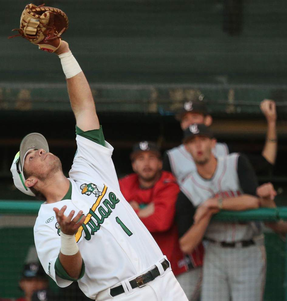 Tulane baseball team begins American Athletic Conference play with UConn _lowres