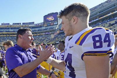 Foster Moreau to wear special No. 18 jersey for LSU in 2018  c6f54a32d