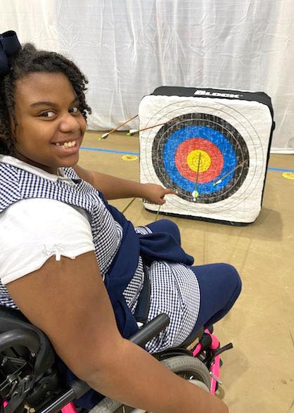 Bains archery Trinity Curtis bullseye.jpg