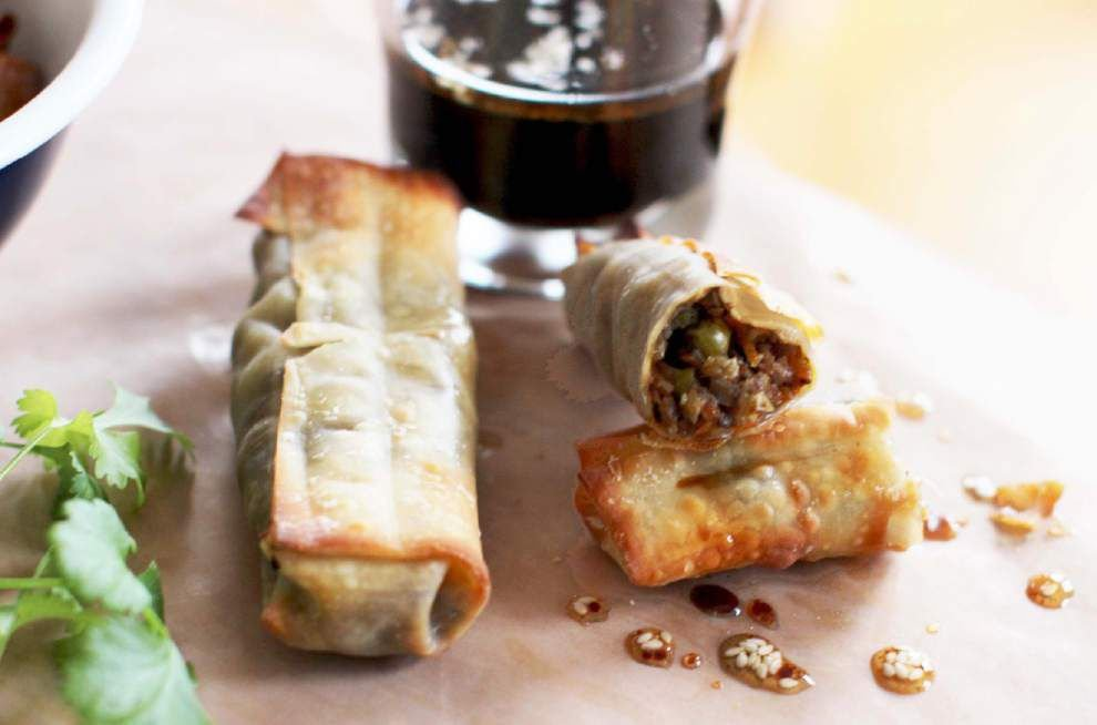 On a   roll   With a few tricks, baked egg rolls can be as good as fried _lowres