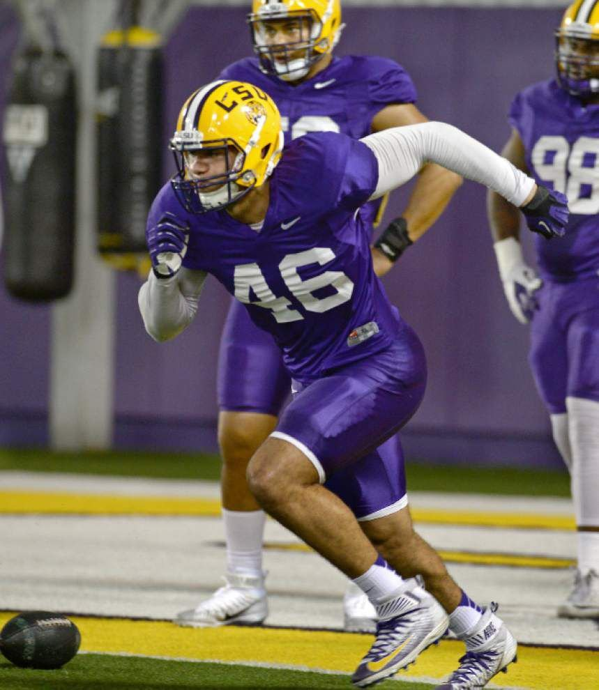 LSU's Tashawn Bower latest to change positions in Dave Aranda's outside-the-box defensive scheme _lowres