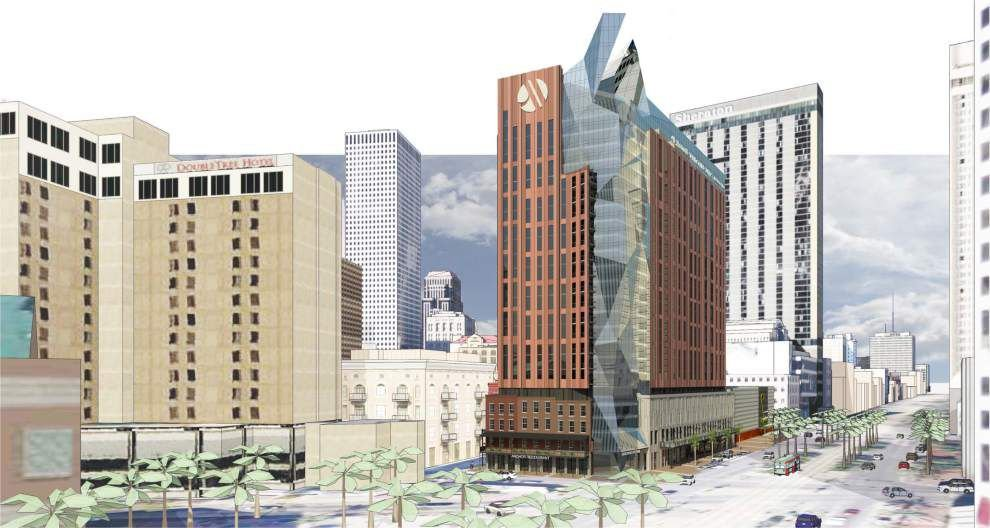 Plan for high-rise hotel at Canal and Tchoupitoulas revived _lowres
