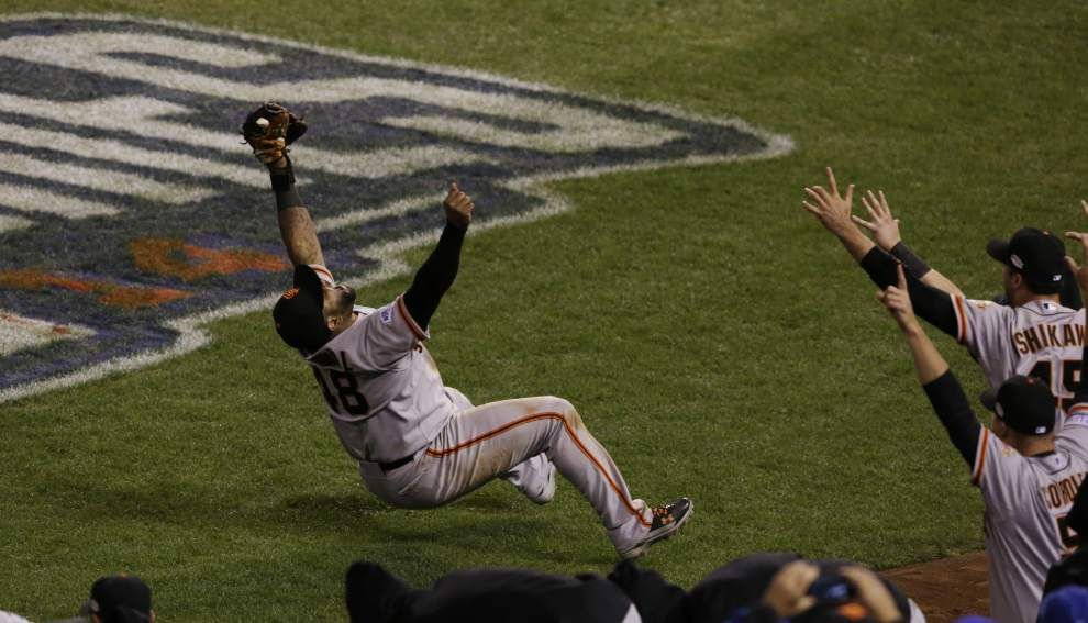 Madison Bumgarner, Giants beat KC to win World Series _lowres