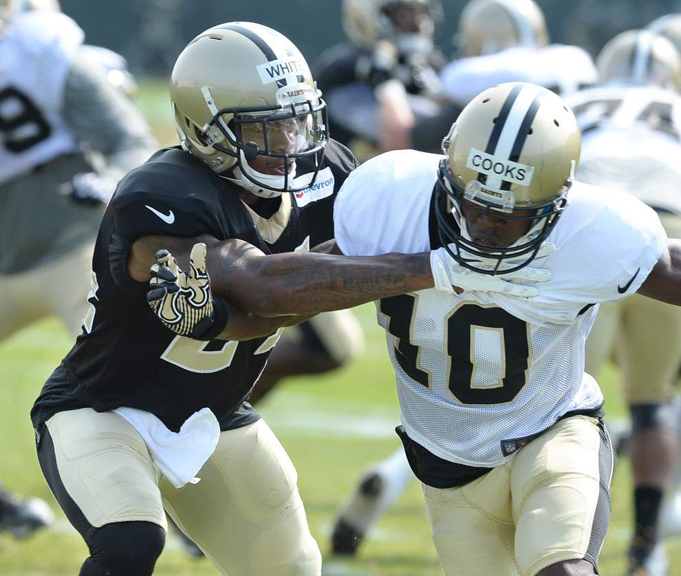 Lewis: Cornerback Corey White works to find fit with Saints _lowres