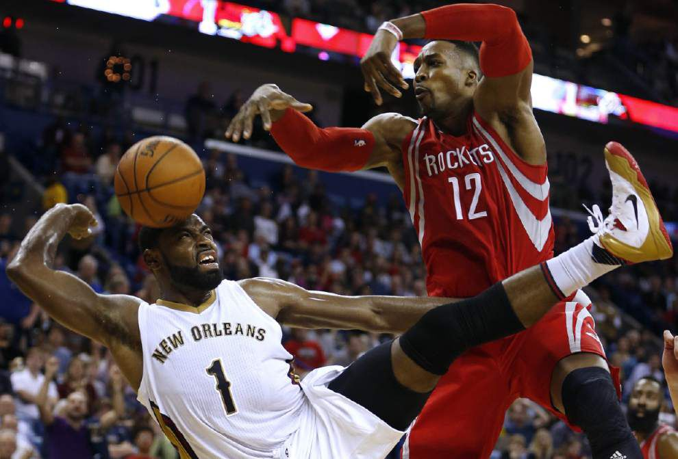 Pelicans piece together a more complete effort, hold off Rockets 110-108 _lowres