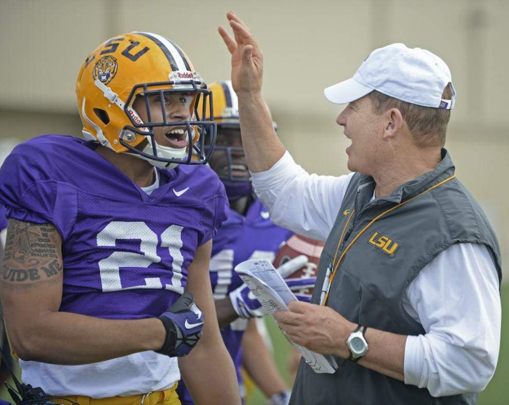 With LSU spring practice winding down, a projected August two-deep depth chart _lowres