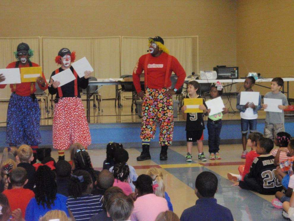 Just a little clowning around over fire prevention awareness _lowres