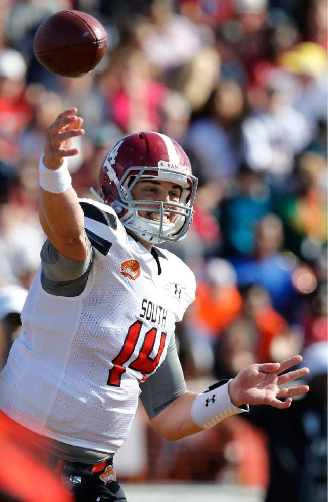 SEC West quarterbacks help lead South team to win at Senior Bowl _lowres