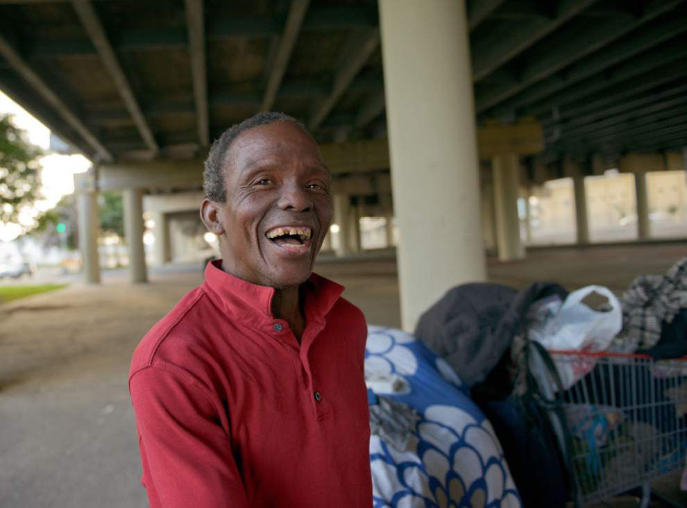 Homeless encampment under expressway swells _lowres