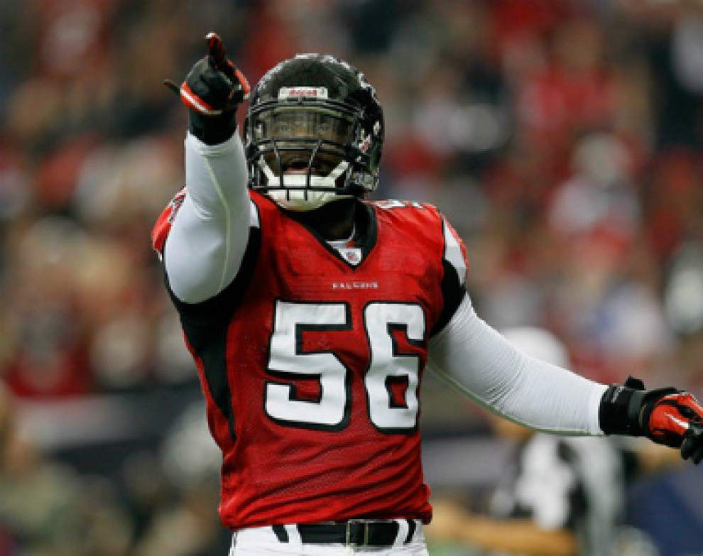 Sean Weatherspoon's comments get Saints' attention _lowres