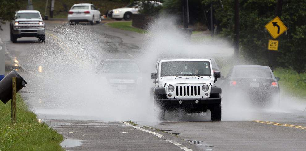 Southwest Louisiana got hammered by weekend rains while the Baton Rouge area escaped the worst _lowres