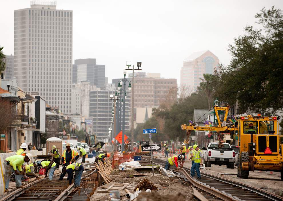 Streetcar line construction to force weeks of detours at Esplanade and North Rampart _lowres