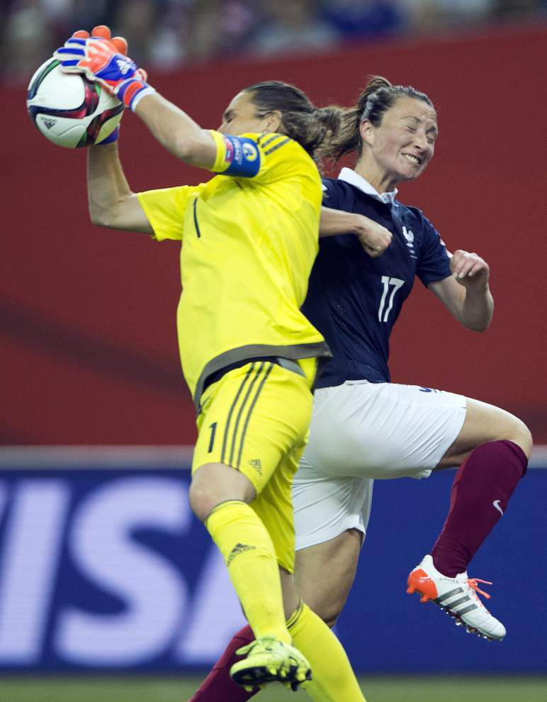 Star goalkeepers Hope Solo and Nadine Angerer in the spotlight as U.S., Germany clash in Women's World Cup semifinals _lowres
