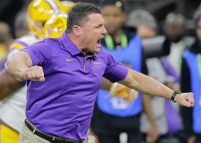 With CFP title game victory, Ed Orgeron reaches 40 wins faster ...