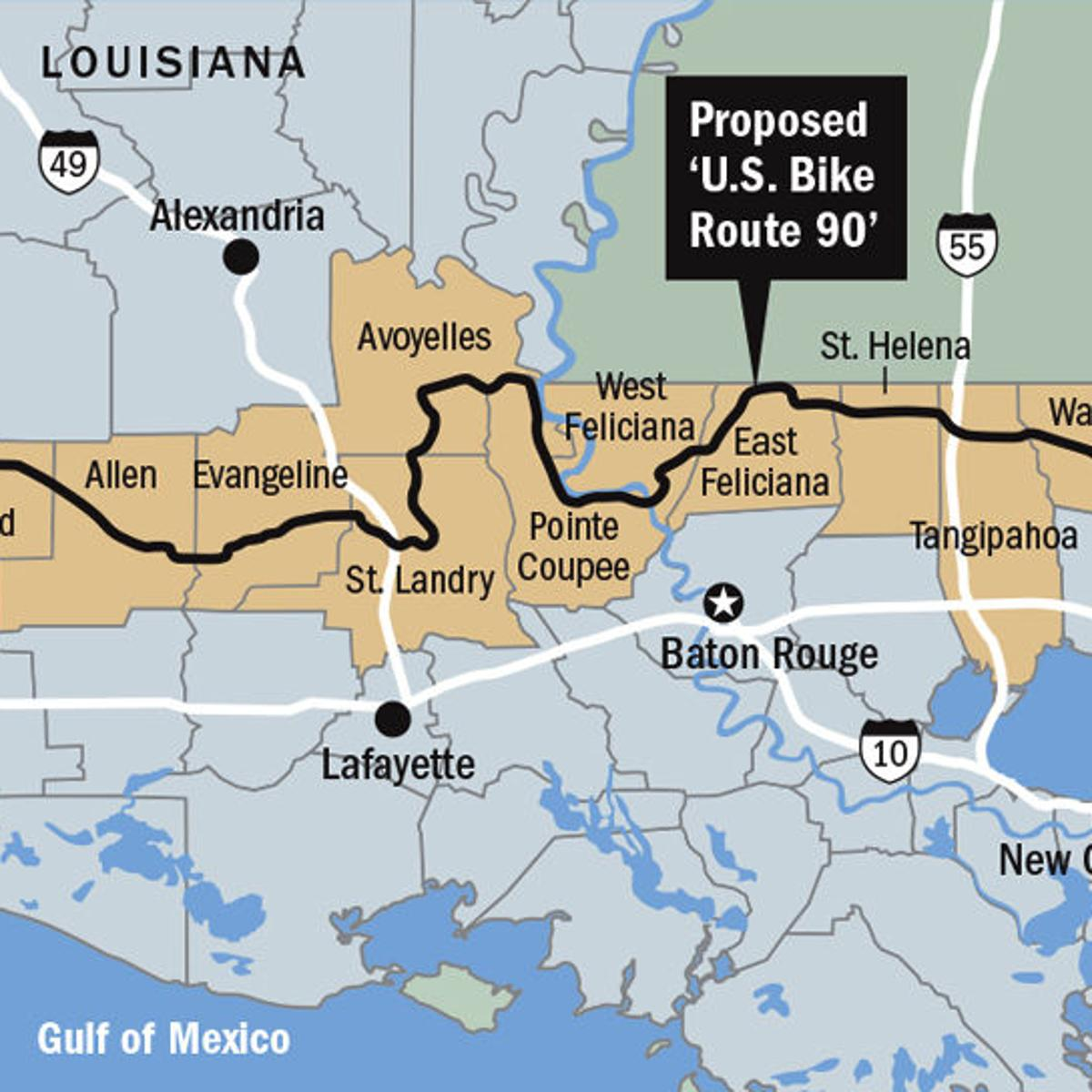 300-mile bike route through south Louisiana is getting ...