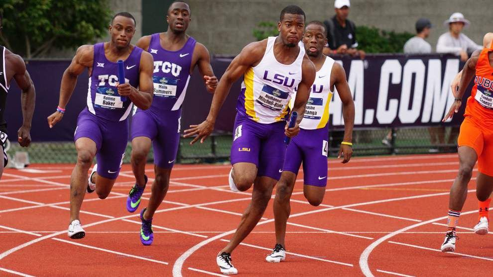 LSU men make steady advance at NCAA track and field meet _lowres