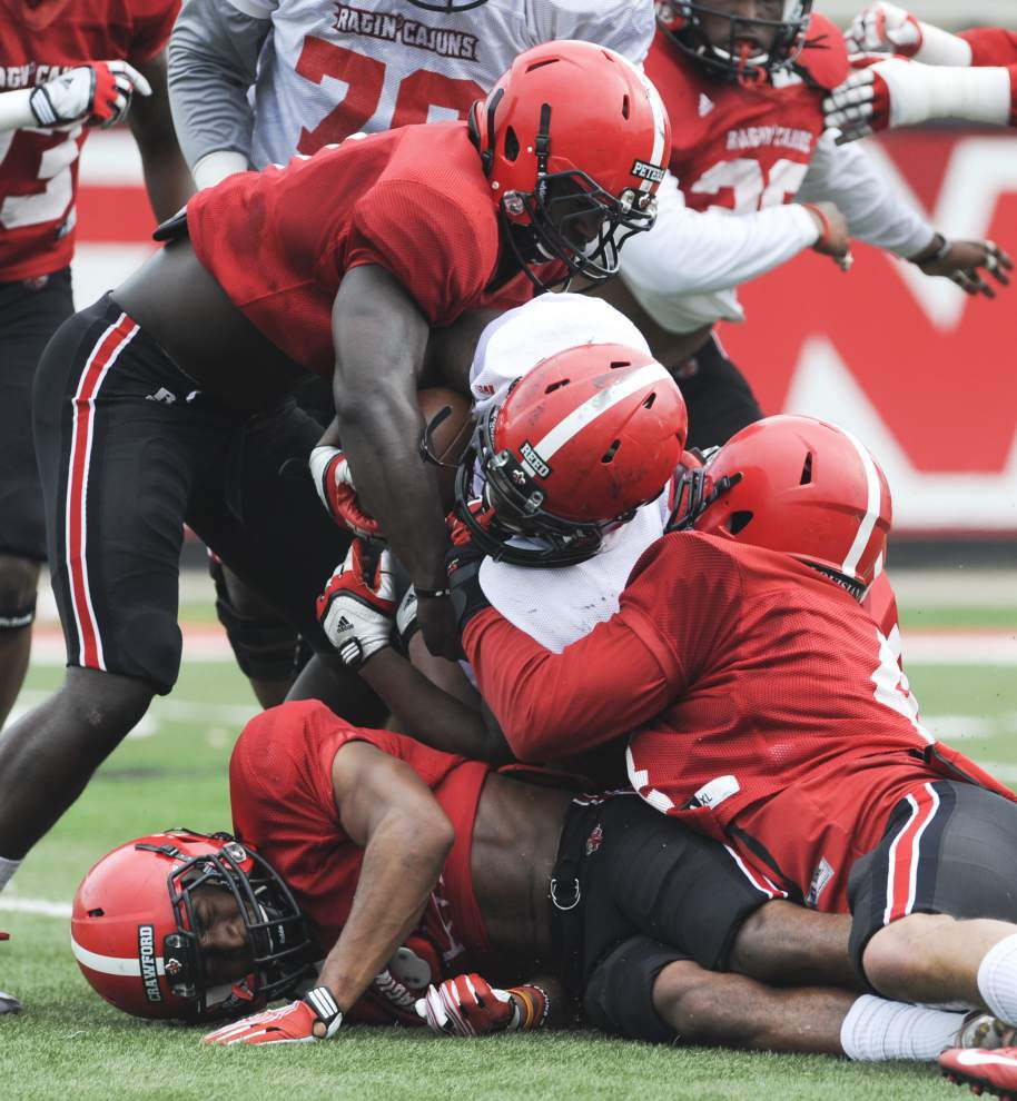 Ragin' Cajuns offense excites in scrimmage, but defense has work to do _lowres