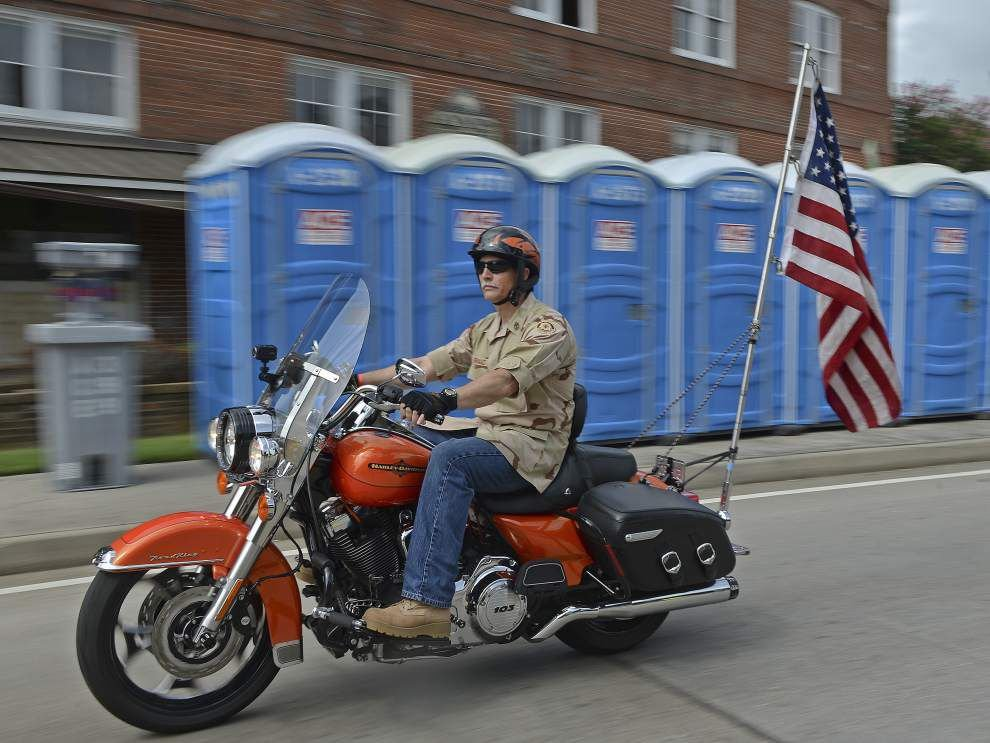 Louisiana bikers rally at USS Kidd as they escort flag on next leg of 'Patriot Tour' to raise money for wounded vets _lowres
