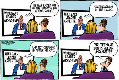 Walt Handelsman: Julian Assange