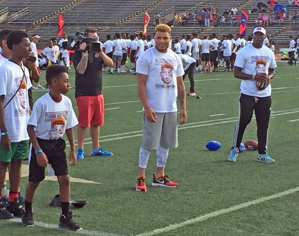 'I was always going to come back': Tyrann Mathieu holds first youth camp in New Orleans, with some special guests _lowres